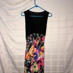 Boohoo Floral Print Maxi Dress